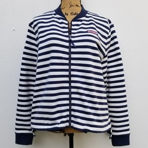 Women's Vinyard Vines Blue/White Striped Jacket